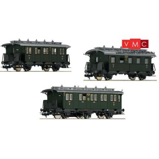 Fleischmann 481804 Személykocsi készlet, 3-részes, mellékvonali kocsik, I., DRG