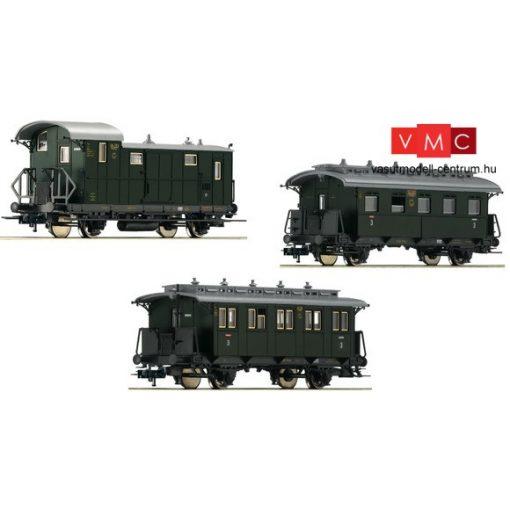 Fleischmann 481805 Személykocsi készlet, 3-részes, mellékvonali kocsik, II., DRG