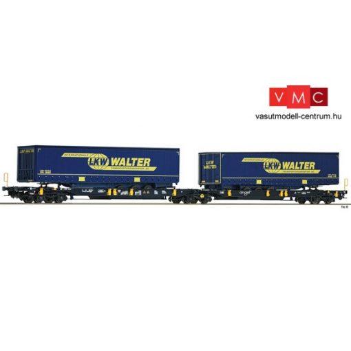 Fleischmann 825001 Konténerszállító iker-zsebeskocsi, Sdggmrs25 - T2000, AAE, Wascosa (E6) (N)