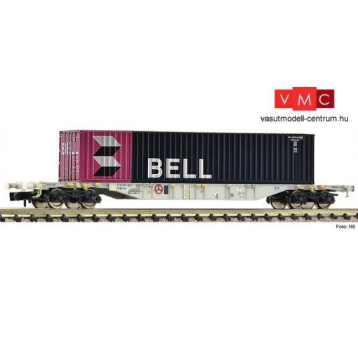 Fleischmann 825208 Konténerszállító négytengelyes teherkocsi, 40 lábas konténerrel, BELL