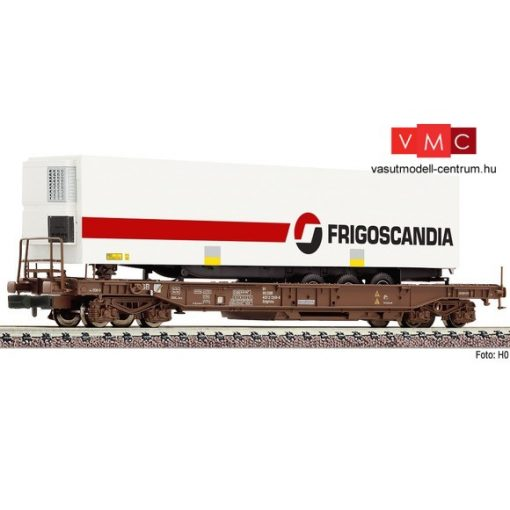 Fleischmann 845366 Konténerszállító négytengelyes teherkocsi, hűtődobozos kamionfélpót