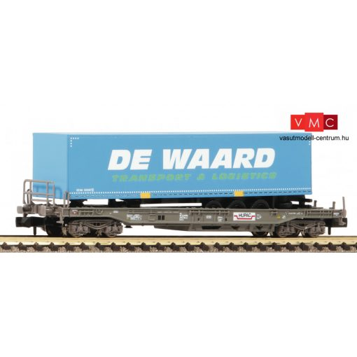 Fleischmann 845369 Konténerszállító négytengelyes teherkocsi, DE WAARD, HUPAC/NS (E6) (N)