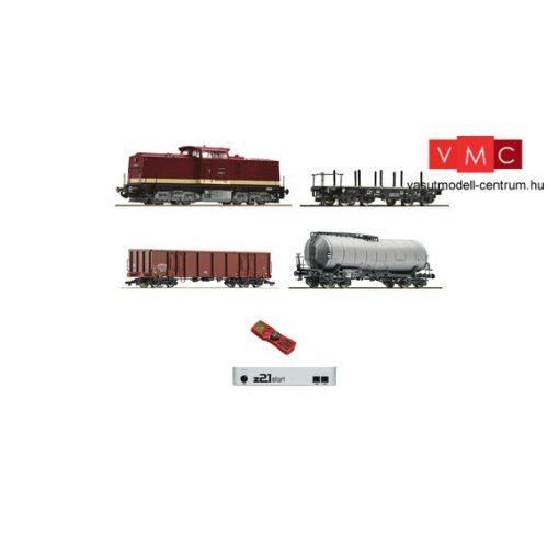 Roco 35021 Digitális kezdőkészlet: BR 112 dízelmozdony tehervonattal, DR (E4) - z21 Start +