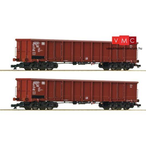 Roco 37641 Nyitott négytengelyes teherkocsi-pár, Eanos, DB (E4)