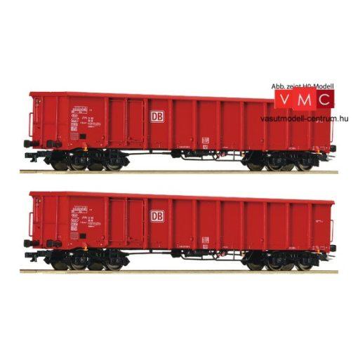 Roco 37645 Nyitott négytengelyes teherkocsi-pár, Eanos, DB-AG (E5-6) (TT)