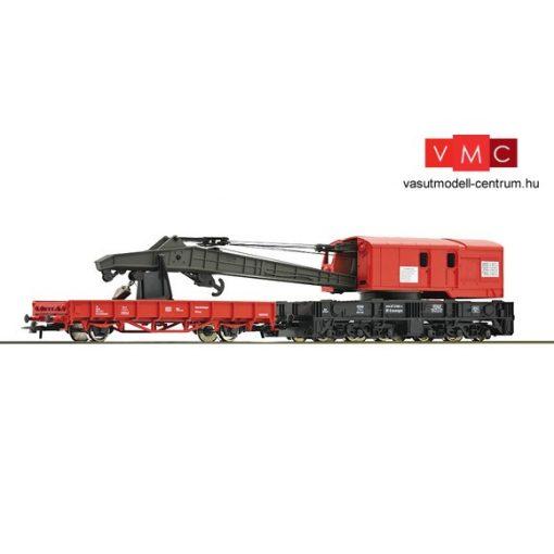 Roco 56240 Vasúti daru, gémtartó kocsival, DB-AG (E5)