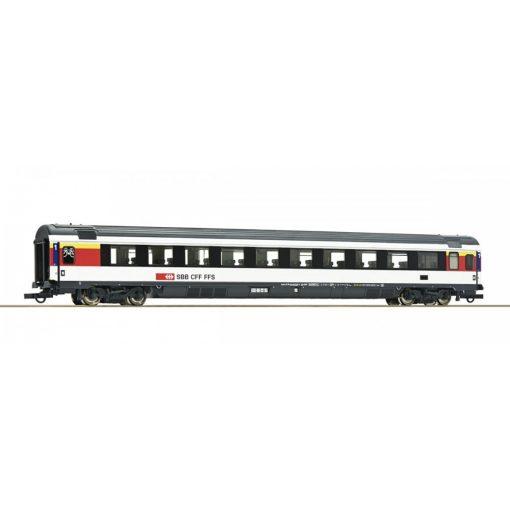 Roco 64399 Személykocsi, négytengelyes EC 1.osztály, fekete/fehér, SBB (E6)