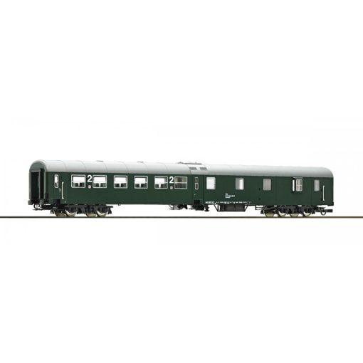 Roco 64670 Személykocsi, négytengelyes középajtós 2. osztály/poggyász, zöld, ÖBB (E4)