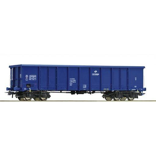 Roco 66498 Nyitott négytengelyes teherkocsi Eanos, PKP, kék
