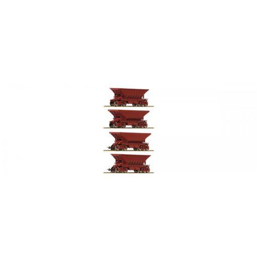 Roco 67084 Ércszállító önürítős négytengelyes teherkocsi készlet (4 db), LKAB (E5)