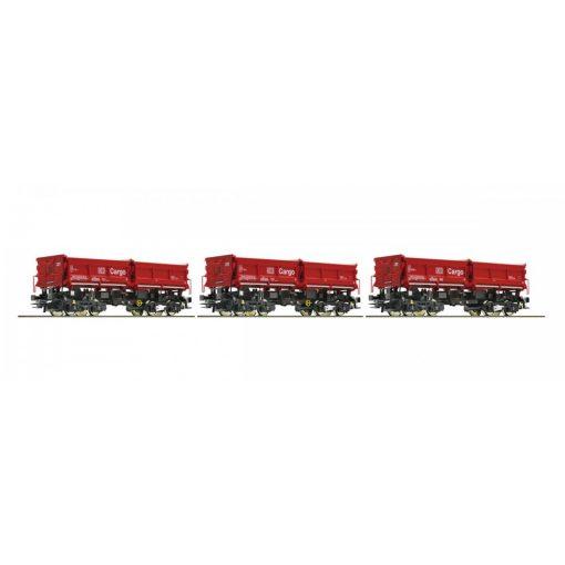 Roco 67199 Önürítős négytengelyes teherkocsi-készlet, 3-részes, DB-AG (E6)