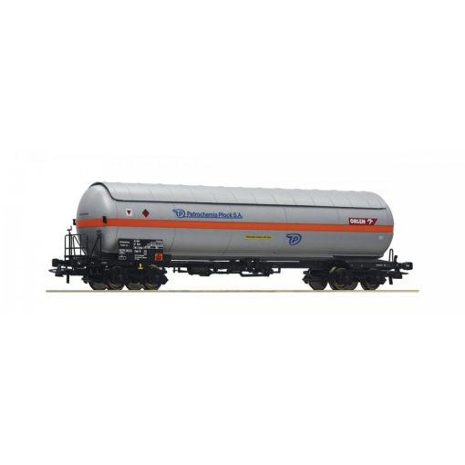 Roco 67580 Gázszállító négytengelyes tartálykocsi, PKP, Petrochemia Plock S.A (E5)
