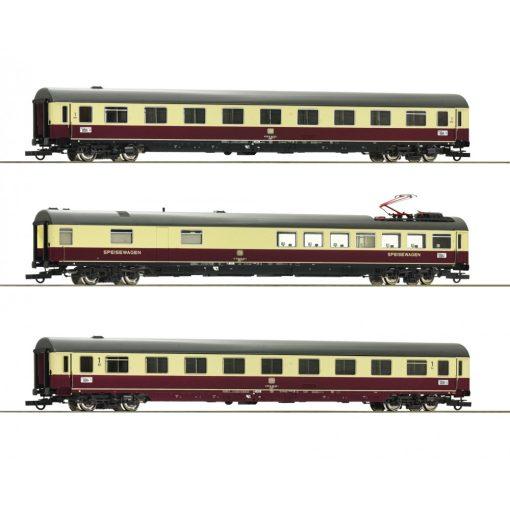 Roco 74122 Személykocsi-készlet, 3-részes négytengelyes TEE 26/27 Erasmus, DB (E4) (H0)