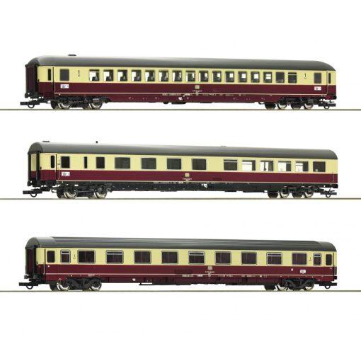 Roco 74123 Személykocsi-készlet, 3-részes négytengelyesTEE 26/27 Erasmus II., DB (E4) (H0)