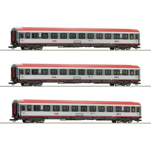 Roco 74132 Személykocsi-készlet, 3-részes Regionalexpress Innsbruck-Bozen, ÖBB (E6) (H0)