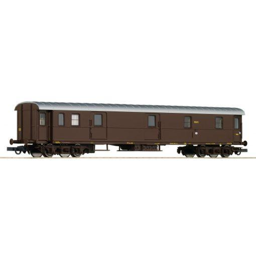 Roco 74384 Poggyászkocsi, négytengelyes, Castano festéssel, FS (E3)