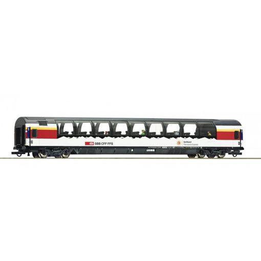 Roco 74402 Kilátókocsi, négytengelyes panorámakocsi, Gotthard Panorama Express Design, SBB