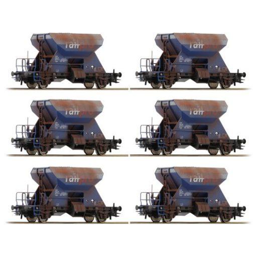Roco 75959 Display: Önürítős kőszállító teherkocsik, 6 db, Railpro (E6) (H0) - gyárila