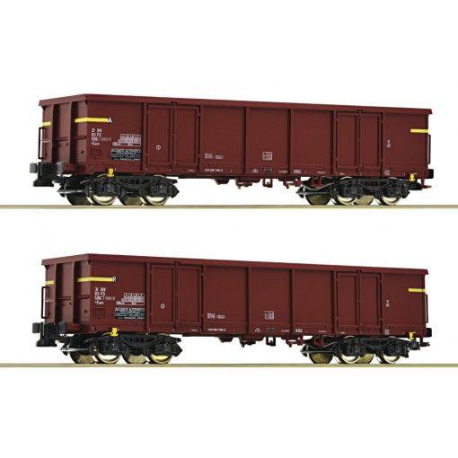 Roco 76127 Nyitott négytengelyes teherkocsi-pár, Eaos, FS (E4)