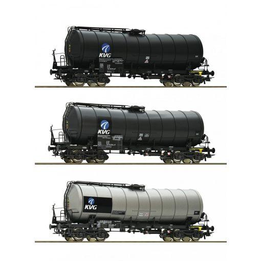 Roco 76156 Tartálykocsi-készlet, 3-részes KVG, DB-AG (E5-6)