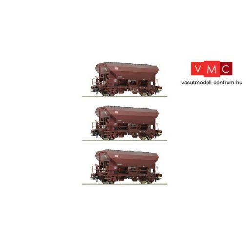 Roco 76170 Önürítős teherkocsi-készlet, 3-részes Fcs, barna, DB-AG (E5)