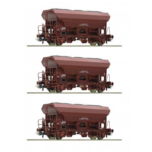Roco 76171 Önürítős teherkocsi-készlet, 3-részes Eds, barna, DR (E4)