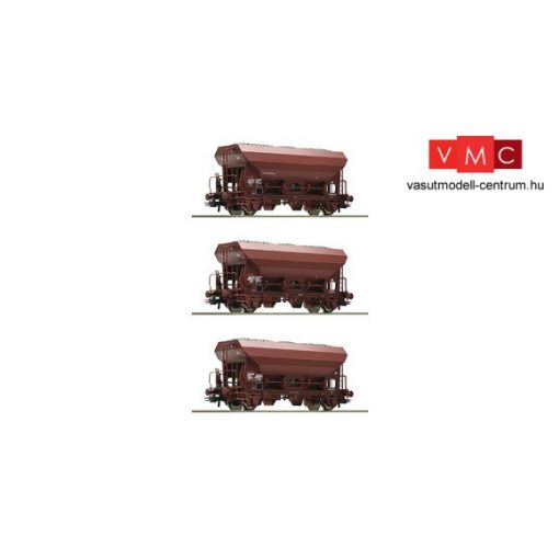 Roco 76172 Önürítős teherkocsi-készlet, 3-részes Fcs, barna, SNCF (E5)