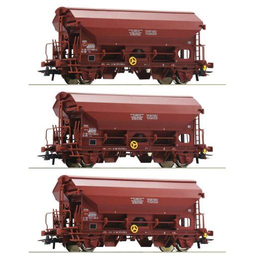 Roco 76176 Önürítős billenőtetős teherkocsi-készlet, 3-részes Tds, barna, SNCB (E4-5)