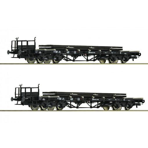 Roco 76194 Rakoncás négytengelyes sínszállító teherkocsi-pár, DB (E3)