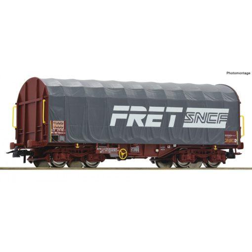 Roco 76443 Ponyvás négytengelyes teherkocsi, SNCF, FRET (E6)