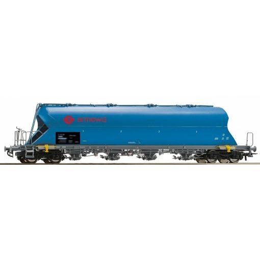 Roco 76702 Poranyagszállító négytengelyes teherkocsi, kék, Ermewa (E5-6)
