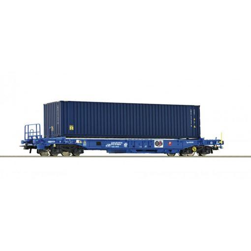 Roco 76748 Négytengelyes konténerszállító zsebeskocsi, Sdkmms, SNCB (E6)
