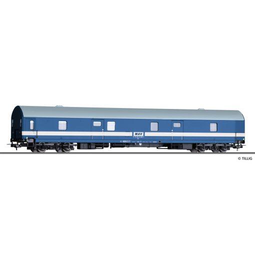 Tillig 74962 Poggyászkocsi, négytengelyes Da, vékony csíkos, MÁV (E4) (H0) - Fantáziamode
